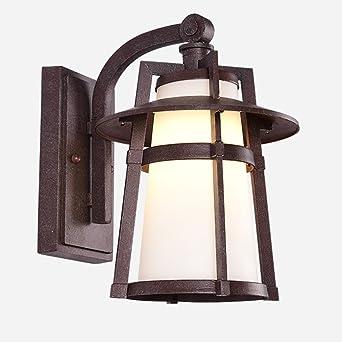 Huwai Garten Terrassen Lampen Amerikanischer Retro Winddichter