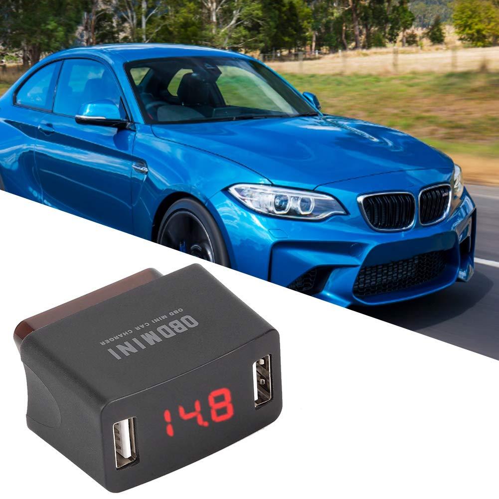 Langlebig ABS Auto Ladeger/ät OBD MINI Dual USB Ladebuchse mit Spannungsanzeige f/ür 12 24V Kfz Kfz Ladeger/ät