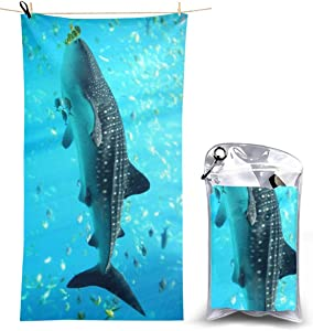 Beach Towels, Cool Whale Shark Quick Dry Towel Blanket, 27.5'' X 51'' Sand Free Towels Absorbent for Bath, Travel, Spa, Swim