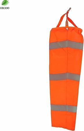 "80cm Airport Windsock 30/"" Long Outdoor Wind SOCK w// Reflective Belts Grommet"