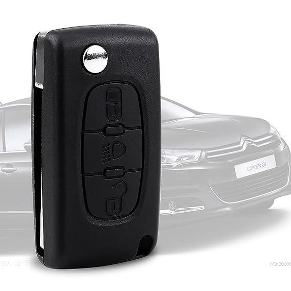 Bobbitech 3 Boton Carcasa de mando Key Llave Coche Versión 2 V2 para CITROEN C2 C3 C4 C5 C6: Amazon.es: Electrónica