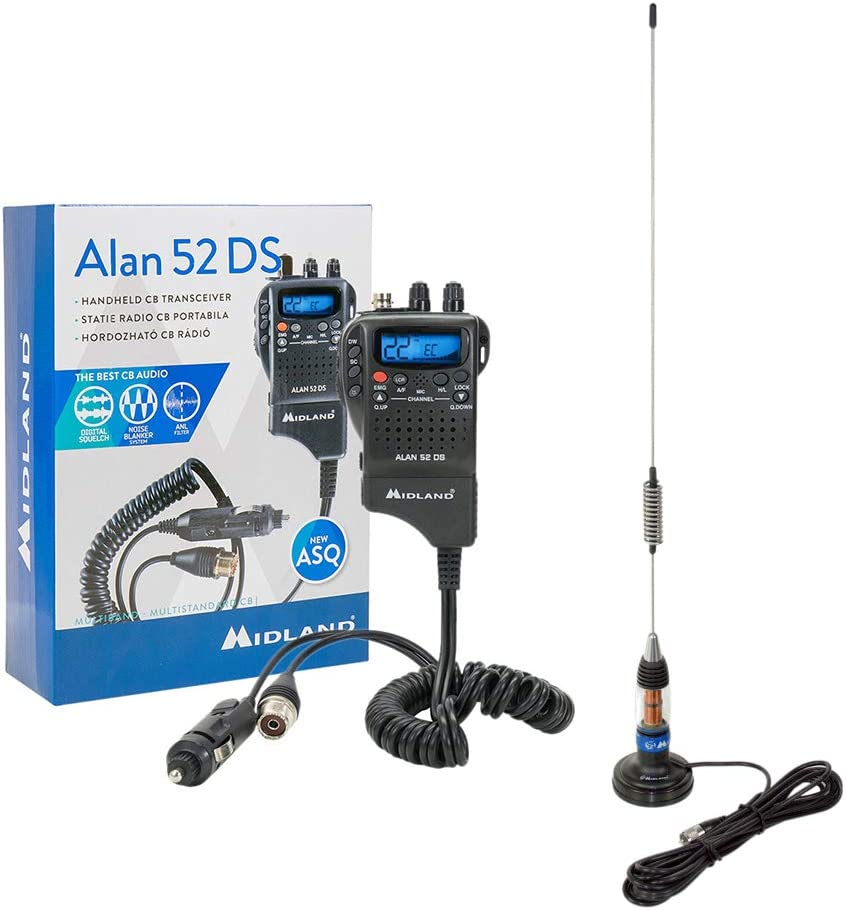 PNI Radio CB Midland Alan 52 DS + Midland LC59 Antena con ...