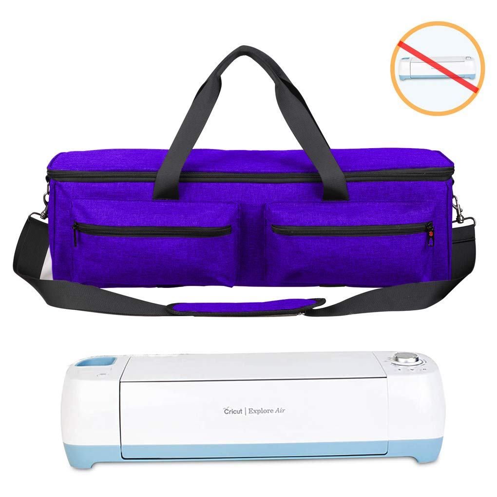 Carrying Bag Compatible with Cricut Explore Air and Maker, Travel Bag Accessories Storage Bag Organizer Case, Tote Bag Compatible with Supplies (Bag Only, Patent Pending) (Purple)