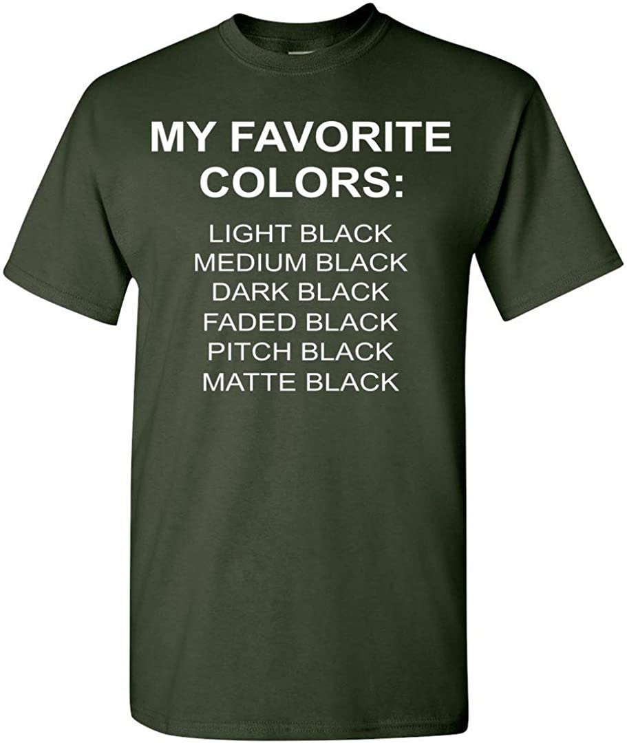 Adult and Youth Size TSHIRTAMAZING My Favorite Color is Black Tshirt