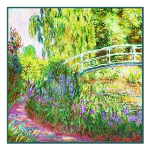 - Orenco Originals The Japanese Bridge inspired by Claude Monet Counted Cross Stitch P.