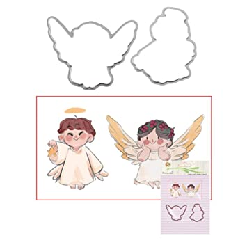 Ink2055 Angel Stamp Seal Cutting Die DIY Scrapbooking Photo Album Decorative Stencil