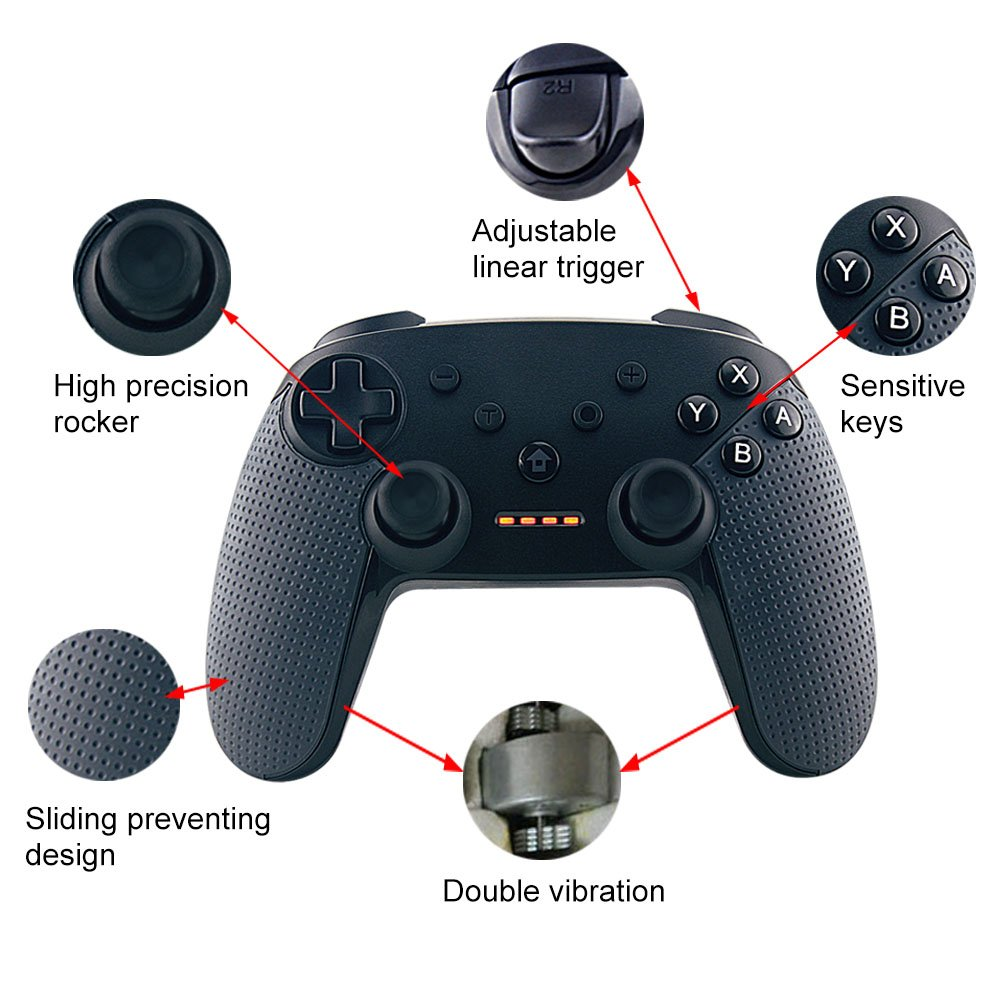 Bestruket Wireless Switch Pro Controller,Classic Game Controller for Nintendo Switch Gamepad & PC