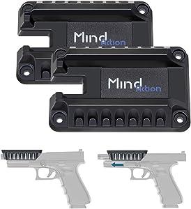 Mind and Action Gun Magnet Mount Holder, Magnetic Quickdraw Fast Loaded Pistol Handgun Mount Holster, Gun Concealment Magnet for Home,Car, Truck.