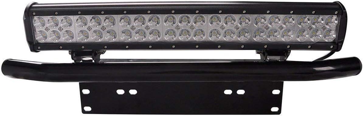 Noir camellia Support de Plaque dimmatriculation pour Montage de Plaque de lumi/ère Pare-Chocs Avant pour Plaque de v/éhicule Tout-Terrain Installation Facile