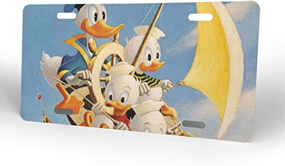 Meirdre Aluminum License Plates Donald Duck License Plate Tag Car Accessories 12 X 6 Inches