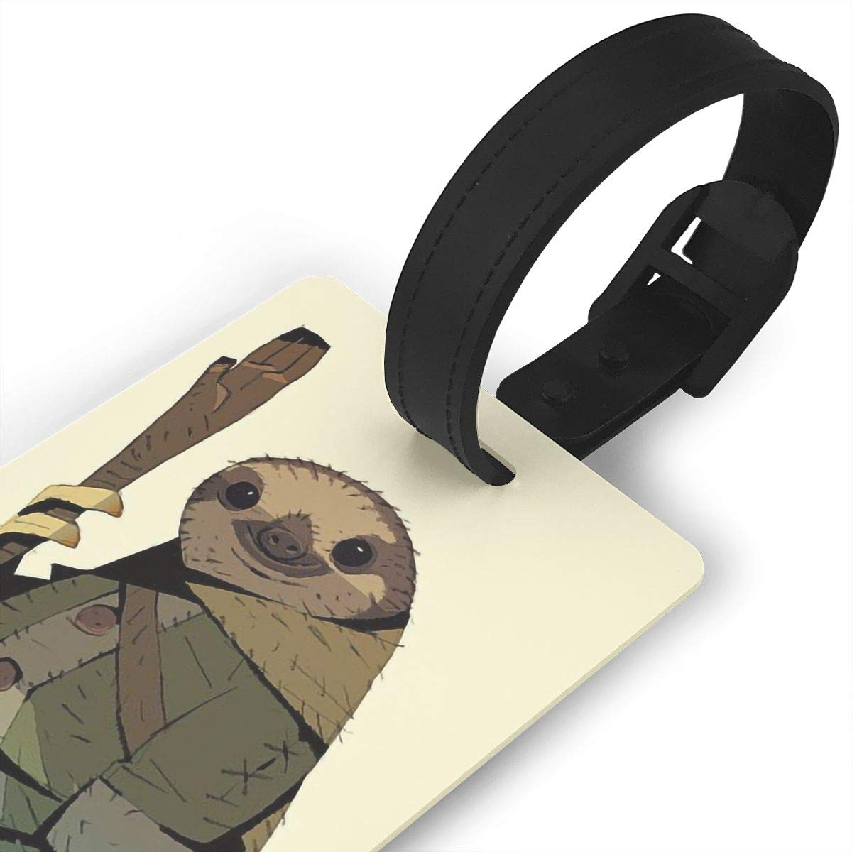 2 Pack Luggage Tags Sloth Baggage Tag For Travel Bag Suitcase Accessories