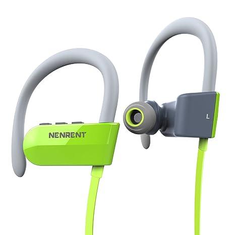 nenrent Q12 Auriculares Bluetooth, Wireless Bluetooth V4.1 Manos libres estéreo auriculares deporte con