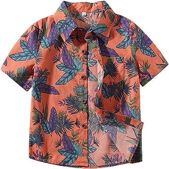 Camisa Manga Corta - Camisa Bebé-Niños Camisa Hawaiana Camiseta Shirt Tops Blusa: Amazon.es: Ropa y accesorios