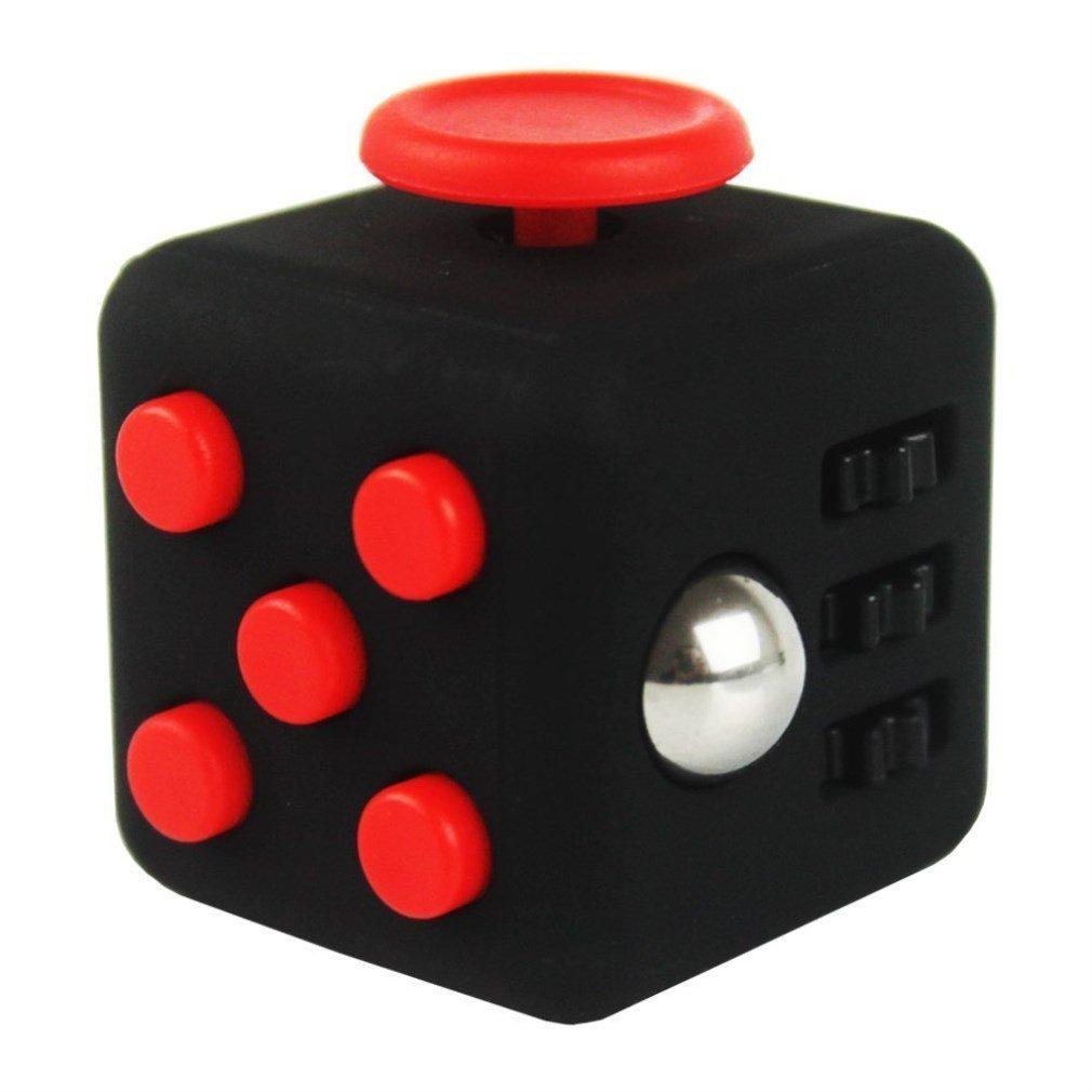 SamGreatWorld Noir/Rouge Mini Fidget Cube Soulage Le Stress et l'Anxi¨¦t¨¦ Toy 6-Side Focus Attention Th¨¦rapie Outil Hand Dice Jouet pour Enfants et Adultes par