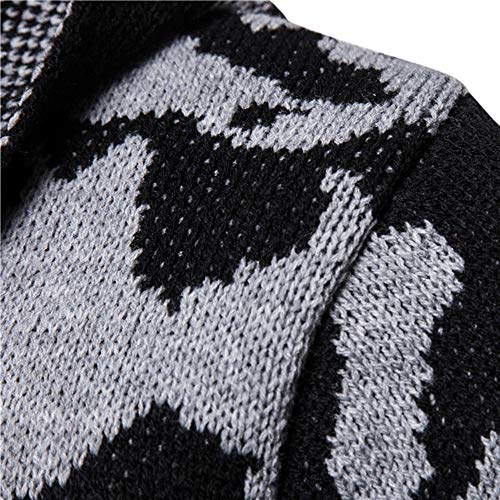 Solid Knit Cardigan Gray Long Coat Camouflage Tops Featured Jacket Clothes Sleeve Hooded PASATO Men's Blouse ZwqxU51nF