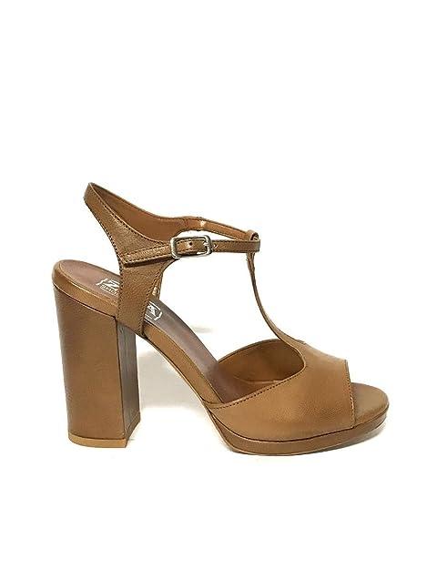 Sandali marroni per donna Zeta shoes TxzaDlZon