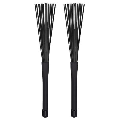 RETYLY 1 par de Cepillos de Tambor Jazz Palillos de Tambor retractiles 32 cm Negro: Juguetes y juegos