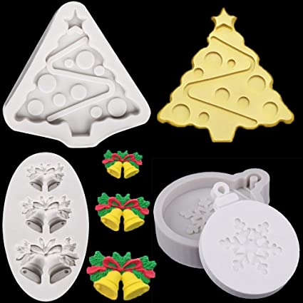 Crafts Crystal Epoxy Silicone Mould Xmas Ornament Casting Molds Resin Mold Tool