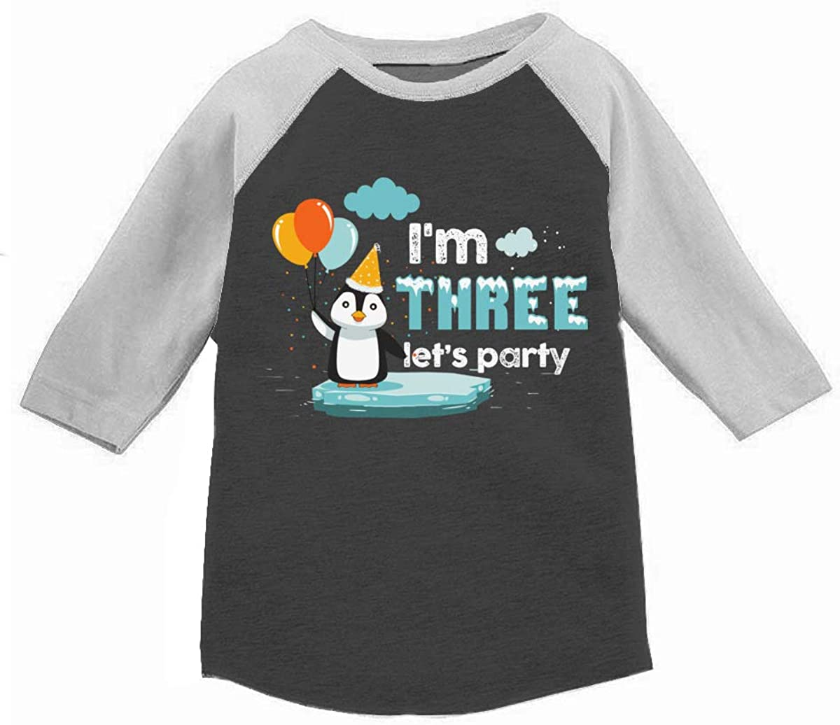 Awkward Styles Third Birthday Shirt Boy Toddler Girl Kids Funny Penguin Party