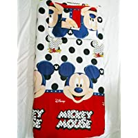 Mickey Mouse Single Fitted Soft-Touch Luxury Microfiber Bed sheets - Brushed 125 GSM with 2 FREE Pillow Case Cover