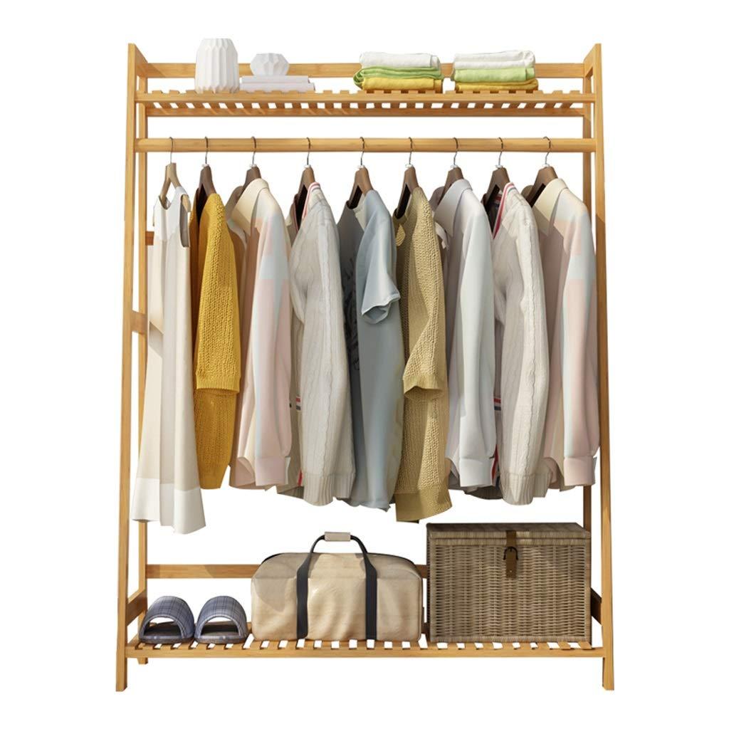 Trapezoid 100 Coat Rack, Floor Bedroom Hanging Rack Simple Modern Bamboo Storage Bag Rack Rack (Size   Trapezoid 60)