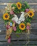 Everyday Rooster Door Wreath / Floral Rooster Wreath / Farm Wreath / Summer Wreath / Rooster Wreath