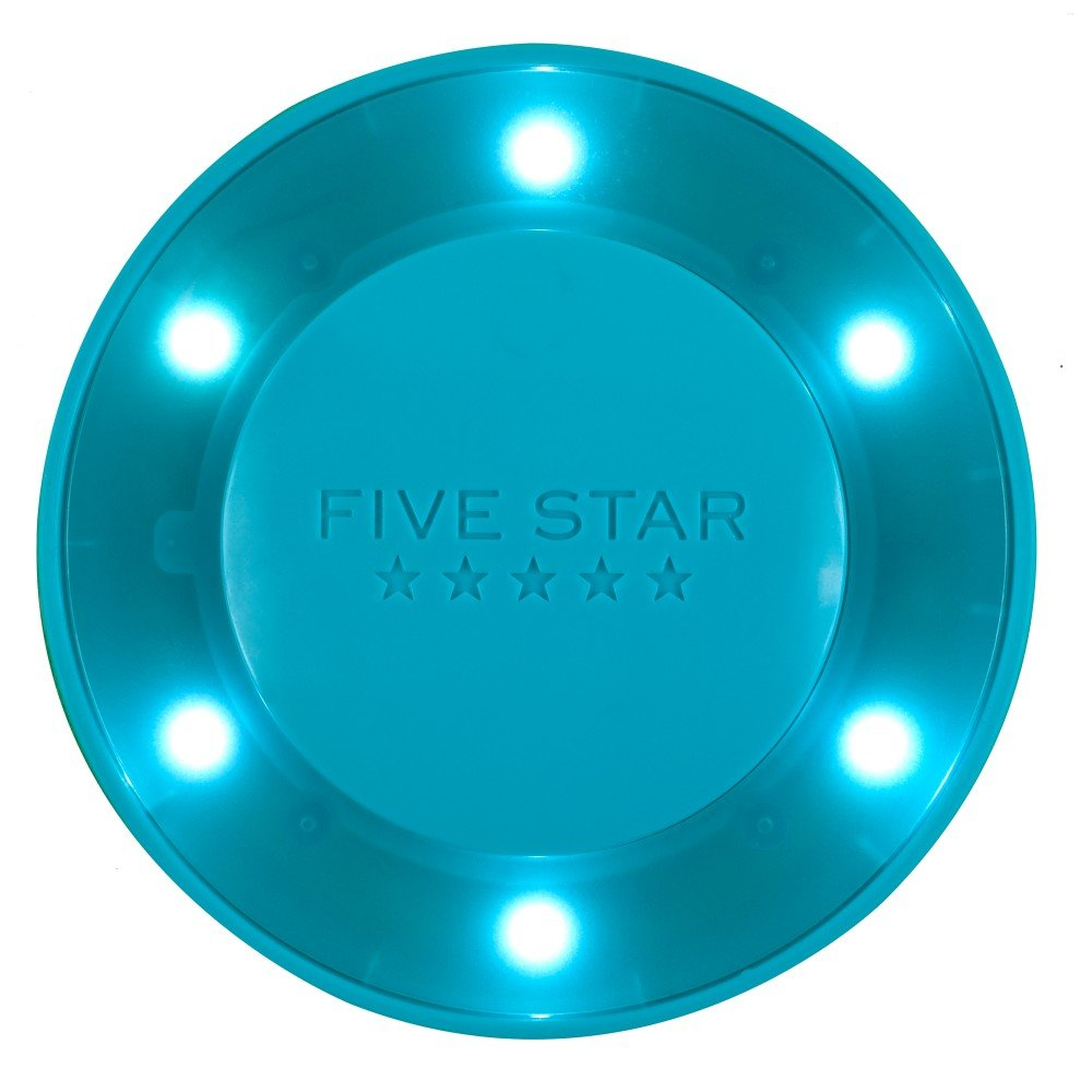 "Five Star Locker Accessories, Locker Light, Push Button Light, Colored LED, Magnetic, 4"" x 4"", Teal (73571)"