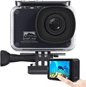 AKASO V50 Pro Access Fund Special Edition Action Camera Touch Screen 4K60 Waterproof Camera Features EIS and Wi-Fi Remote Control Sports Camera with 3 Batteries Wrist Strap and Accessory Kit