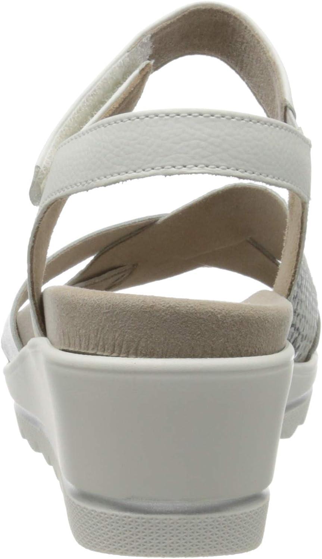 Gabor Shoes Comfort Basic, Sandales Bride Cheville Femme Blanc Weiss Silber 51