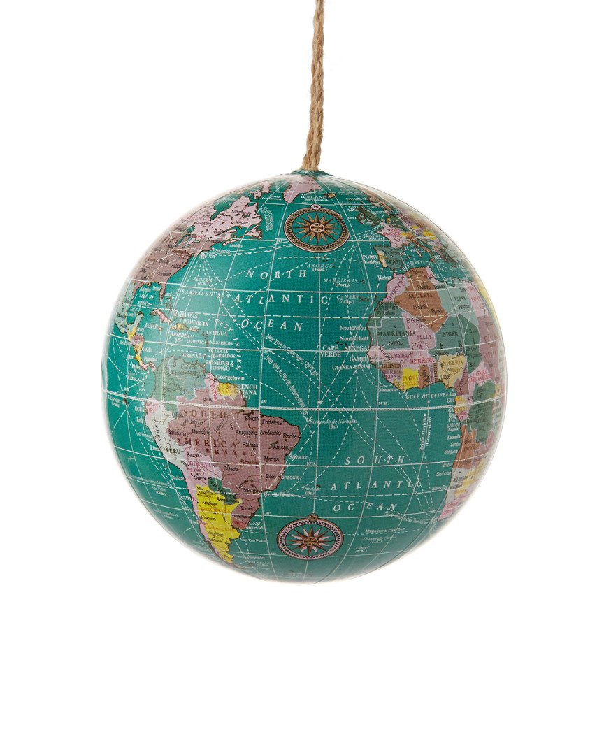 World globe christmas ornaments - Amazon Com Plastic Blue And Tan Earth Globe Ornament Set Of 2 Home Kitchen