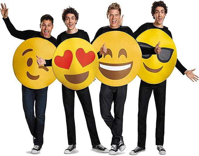 Juego de Disfraz de Grupo de Emojis para Adultos, 4 Piezas: Amazon ...