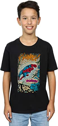 Marvel Jungen Spider-Man Ftanng T-Shirt