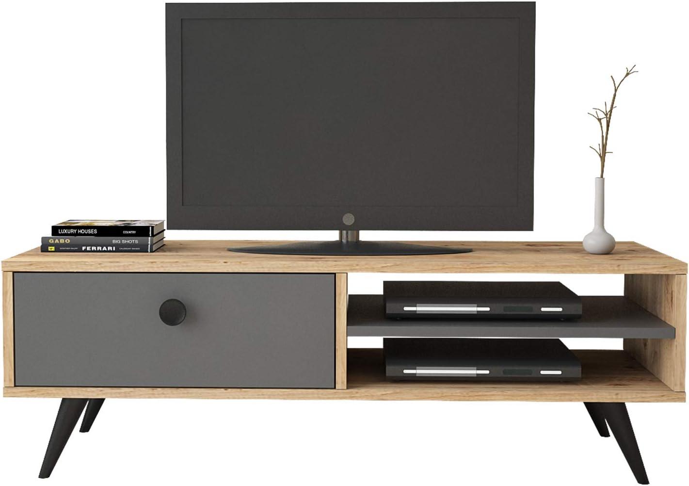 Yurupa Inamor Mueble TV, Televisor Mesa de televisión con 1 Estante, con 1 cajón, Textura de Madera IN1-222: Amazon.es: Hogar