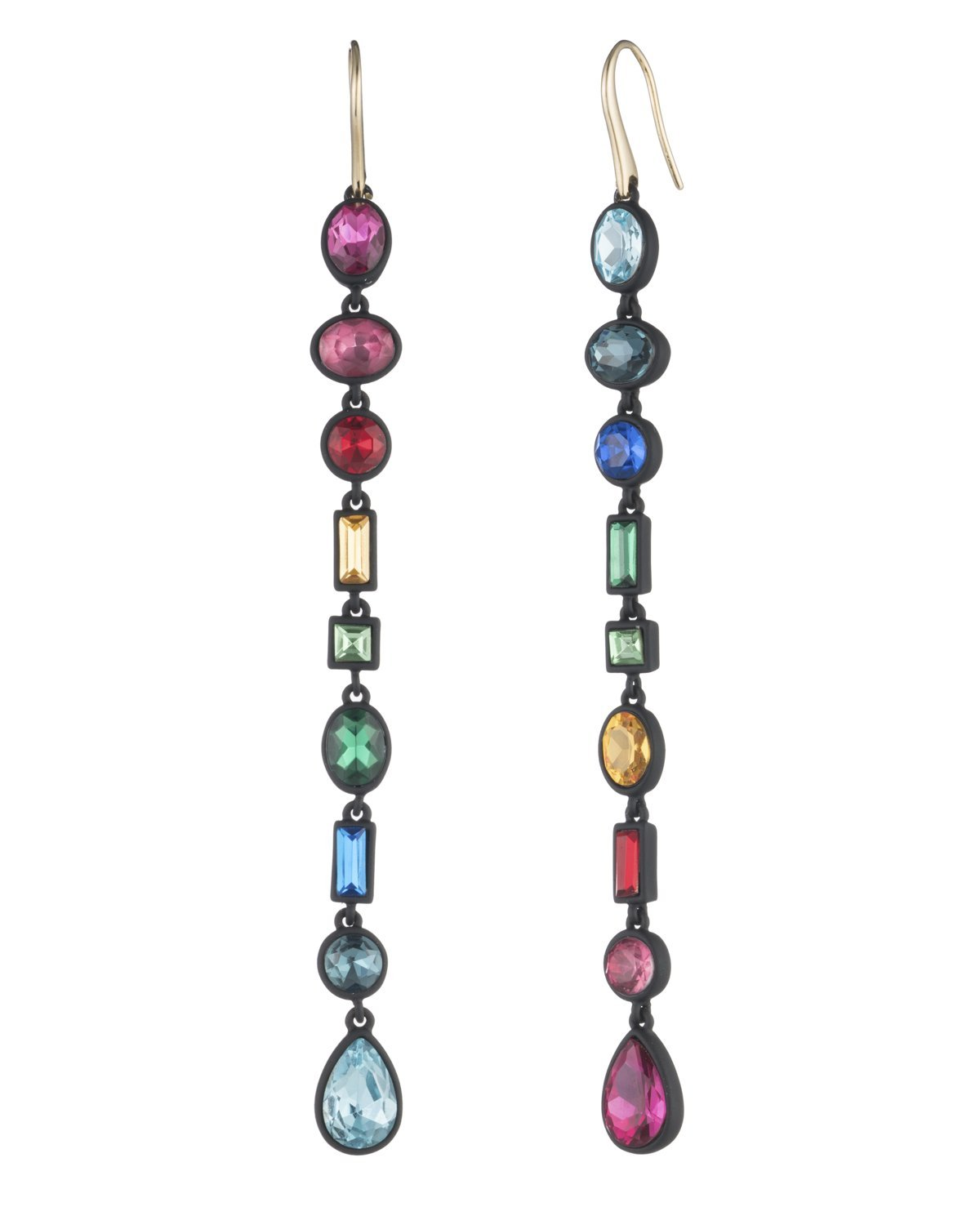 Trina Turk''Confetti And Cocktails'' Multi Stone Mismatch Large Earrings