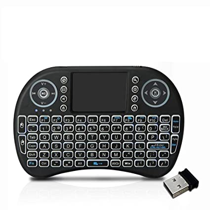 Loopan i8 Mini Wireless Keyboard and Mouse(Touchpad with Backlight) with  Smart Function for Smart Tv, Android Tv Box, Raspberry-Pi, Android & iOS