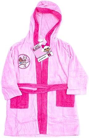 LOL Surprise - Albornoz para niña Original de Rizo de algodón Rosa 8-9 Años: Amazon.es: Ropa y accesorios