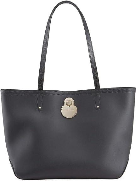 Longchamp 'Cavalcade' Leather Shoulder Tote Bag, Black
