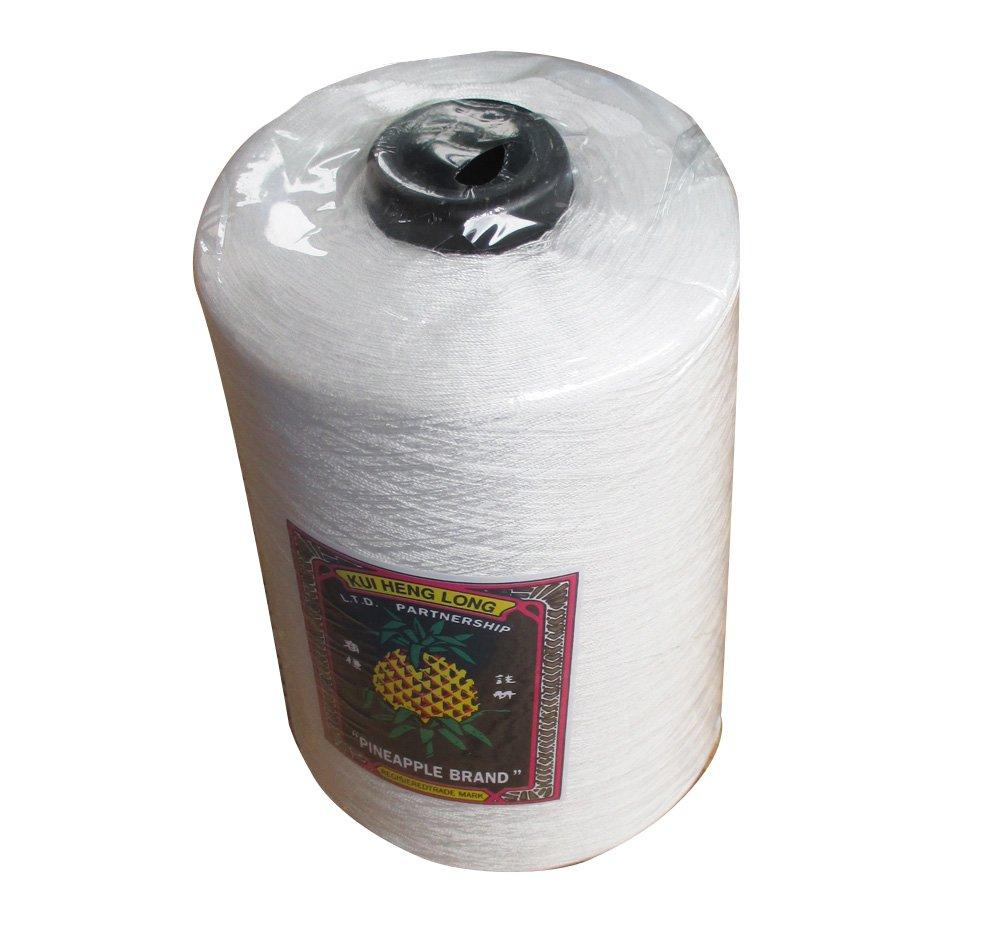 RaanPahMuang Pineapple Brand 100% Spun Polyester Factory Sack Thread Big One Spool, White by Raan Pah Muang