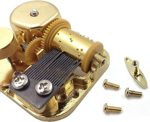 Caja de música de 18 notas, mecanismo de cuerda, metal, dorado ...