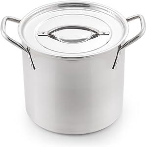 McSunley 606 Medium Stainless Steel Prep N Cook Stockpot, 8 quart, Silver