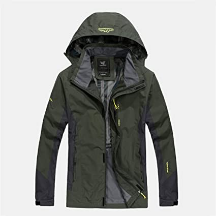 5ea5ec16b11 Jackets Men s Hiking Jacket Outdoor Waterproof Windproof Breathable  Insulated Comfortable Jacket ( Color   Army green