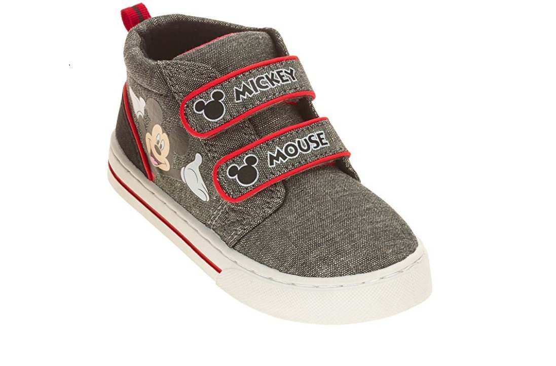 Mickey Mouse Boys Toddler Casual Shoe Sneaker (8 M US Toddler, Gray/red)