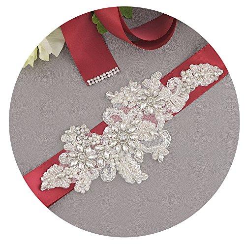 Perle Delle Del Ulapan Da Fusciacca Diamanti Da Bordeaux Cintura Sposa Donne S139 Cinghia Sposa Ghigliottina Vestito a0dqYwY