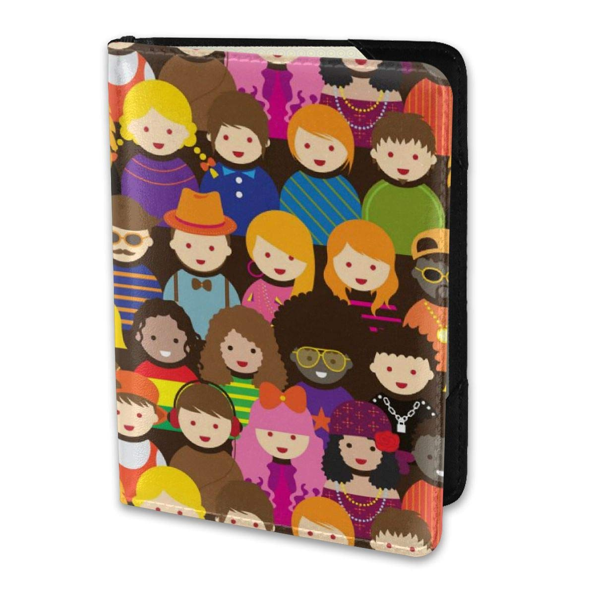 Biahos Leather Passport Cover Various Teenage People Pattern Wallet For Passport Case
