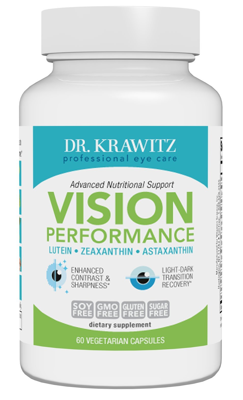 Dr. Krawitz Vision Performance with Lutein, Zeaxanthin & Astaxanthin - 60 caps by Dr. Krawitz Professional Eye Care Supplements (Image #2)