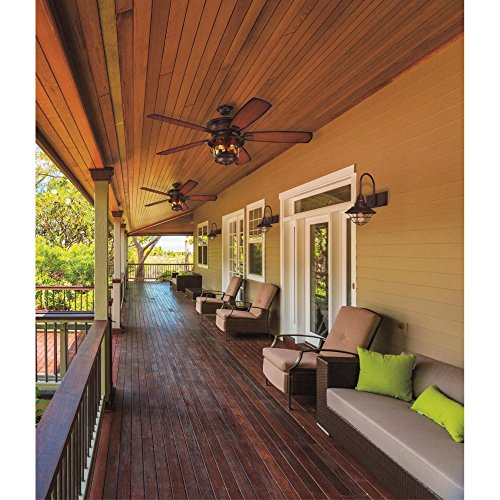 Westinghouse Lighting Westinghouse 7800000 Brentford 52-Inch Aged Walnut Indoor/Outdoor Ceiling Fan, Light Kit with Clear Seeded Glass, 1 Finish