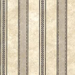 Chesapeake SRC761910 Castine Tuscan Stripe Wallpaper, Charcoal