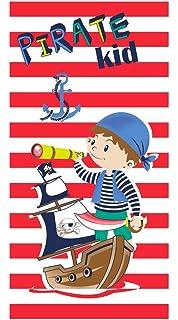 Pirata Kid - Toalla Playa NIÑO Pirata 70X150 niñas