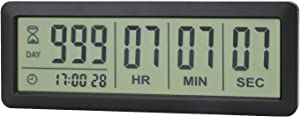AIMILAR Digital Countdown Days Timer - AY4053-Black Upgraded Big 999 Days Count Down Clock for Vacation Retirement Wedding
