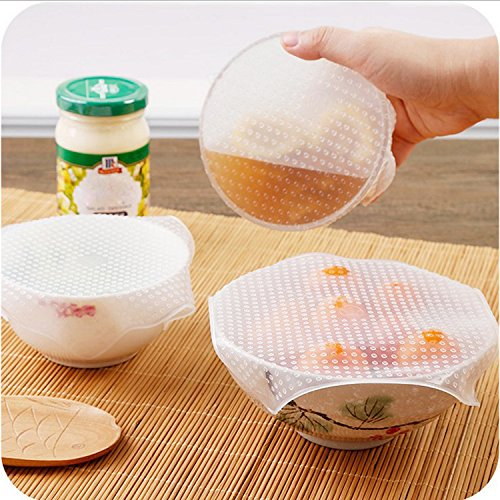 Drip Gravy (USUNO Reusable Plastic Wrap Silicone Seal Covers Food Stretch Lids Environmental Kitchen Tools for Keeping Food Fresh, 6Pcs)